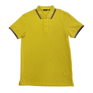 Solid Polo with France Stripe Collar
