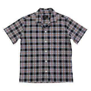 SS Camp Collar Shirt, Check pattern