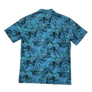 SS Camp Collar Shirt, Blue Flower