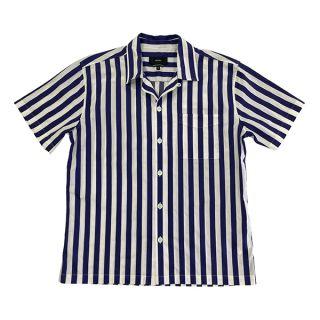 SS Camp Collar Shirt, Stripes