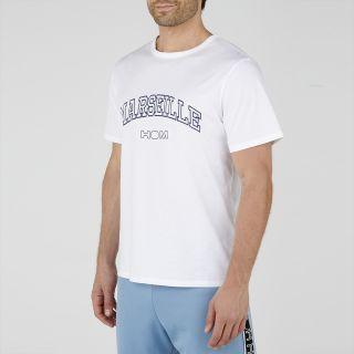 Victor Marseille Logo T-Shirt Crew Neck - White